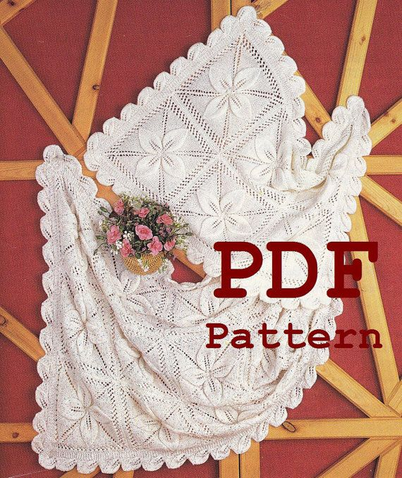 Vintage Knitting Pattern Baby Blanket : Baby Blanket Knitting Pattern Instant Download by PaperButtercup, USD2.39 Kni...