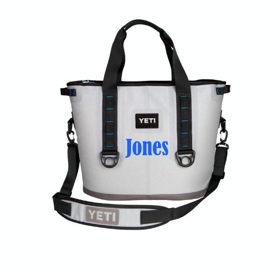 Name Decal for a Yeti Hopper or RTIC SoftPak - Put Your Name or Initials On Your Cooler - Yeti Hopper, RTIC SoftPak