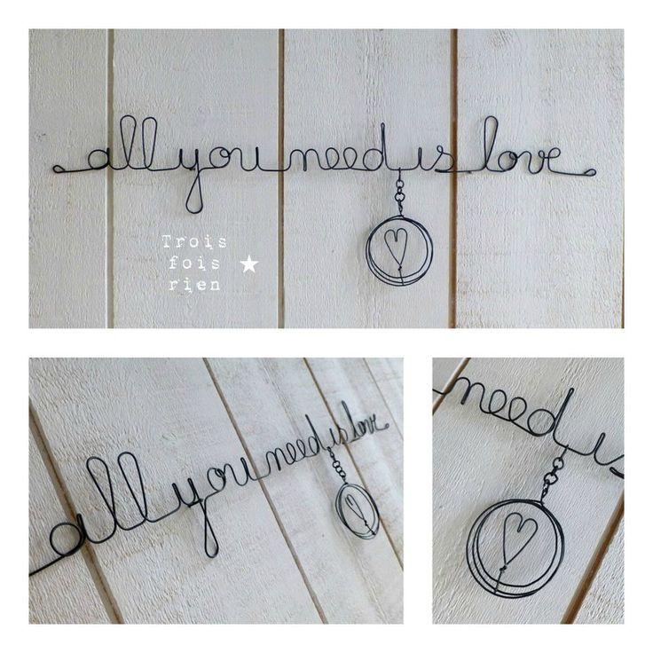 Guirlande fil de fer all you need is love