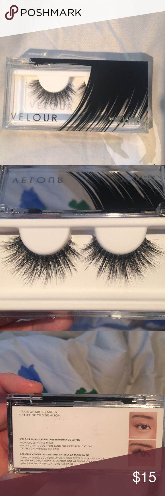 Velour lashes New velour eye lashes in dreamgirl. Never worn and is still in original case. If interested please make an offer below ♥️ velour Makeup False Eyelashes
