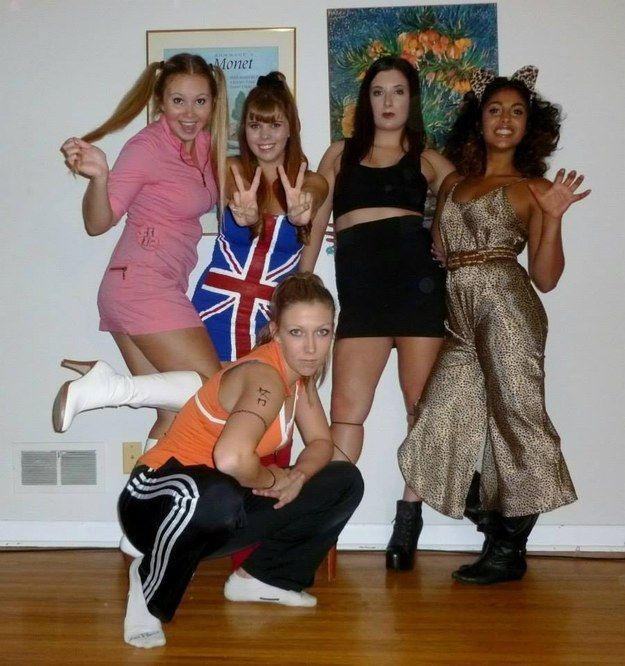 The actual Spice Girls | 32 Ridiculously Clever Group Halloween Costumes