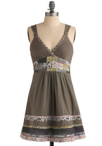 Thinking I can patchy-up one of my Old Navy dresses like this...