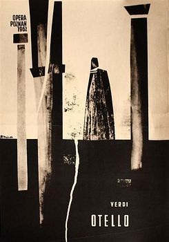 Zbigniew Kaja - OTELLO-OPERA-POZNAN-1962 poster art from Poland