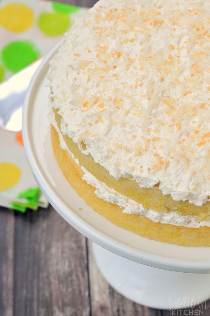 Grandma's Coconut Pineapple Cake - My Suburban Kitchen