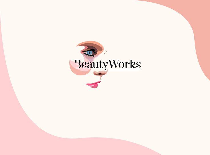 BeautyWorks on Behance #beauty #make #up #elegant #color #woman #women #illustration #face #modern #wave #esthetic #beautician #logo #card #graphic #design #girl #fresh #pink #purple #eyes #typography #pastel