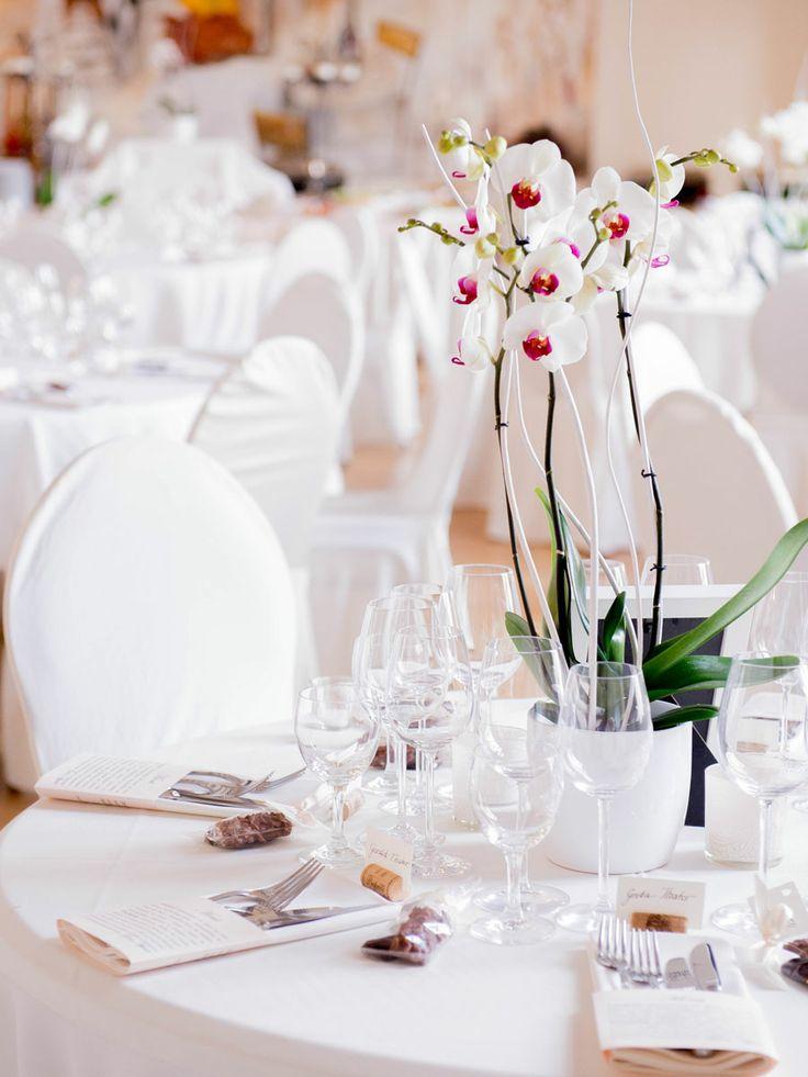 34 besten hochzeiten bilder auf pinterest hochzeit deko dekoration hochzeit und hochzeiten - Tischdeko orchideen hochzeit ...
