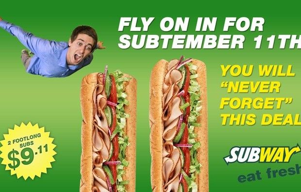 Subway store honors the Onion's fake 9/11 coupon