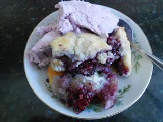 Can you smell that?  The aroma of summer?    Black Raspberry Cobbler wafting through the house...     INGREDIENTS:   2  1/2 cups of fresh b...