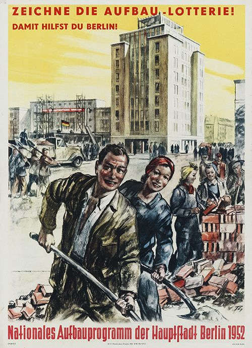 Nationales Aufbauprogramm Stalinallee, Plakat, 1952
