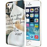 iPhone SE 5 5S Hard Case (iPhone 5C Excluded) **NEW** Case with Design Give Me A Good Cup Of Coffee And A Bool... Price: USD 8.5 | UnitedStates