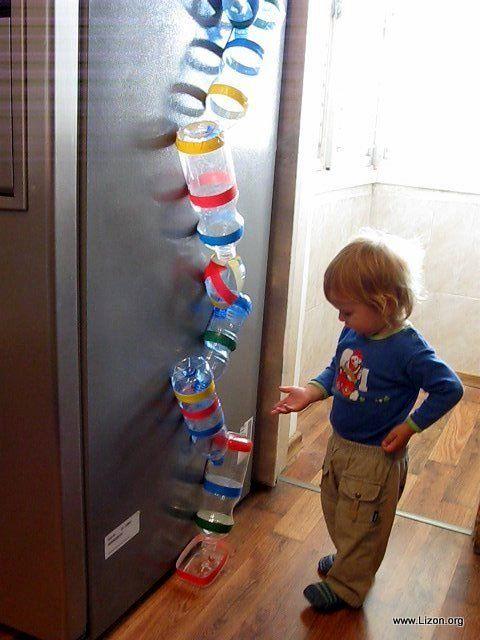 Мир моих грез . . . Lizon.org: Вращающиеся шарики - игра из пластиковых бутылок