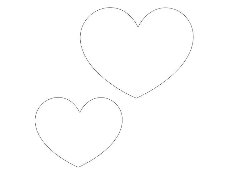 šablona srdce