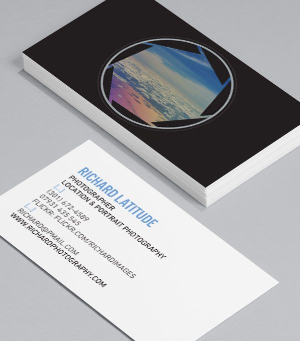 Aperture: Business Cards showing a beautiful landscape ... Pictures Ever