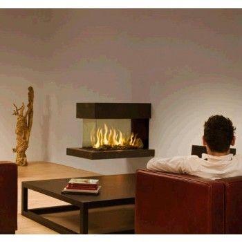 De Kal-fire Fairo 90 3-zijdig is een #gashaard die perfect kan fungeren als roomdivider. #Gaskachel #Kampen #Interieur #Fireplace #Fireplaces
