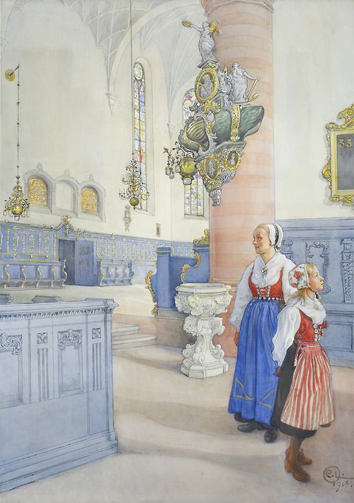Carl Larsson (1853–1919), Kristine kyrka, 1918