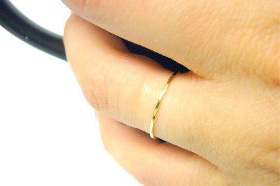14k gold ring yellow gold ring 14k gold stacking ring thin gold
