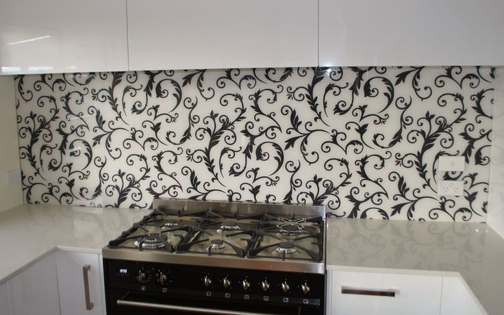 Glass Splashback - Wallpaper Pattern