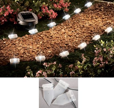 Spiked Solar Walkway Light String