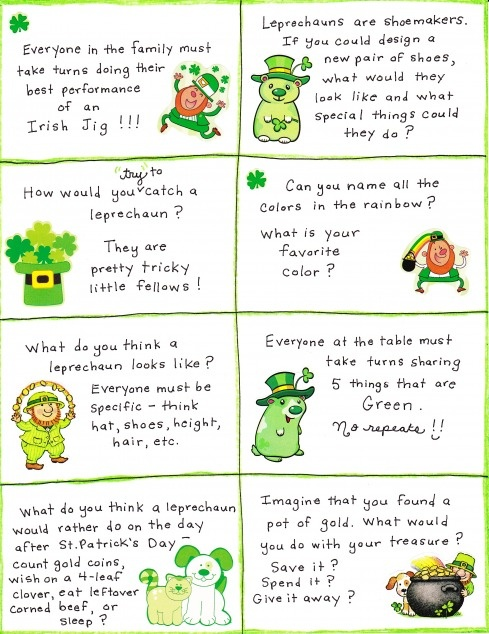St. Patrick's Day Conversation Cards – FREE Printable