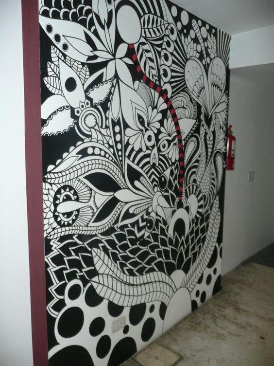 ©MarianoPadilla - Mural - Wall Painting - Uni Posca on 10m² wall - Productora Gravedad Zero: