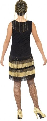 Disfraz charlestón negro y dorado mujer-2
