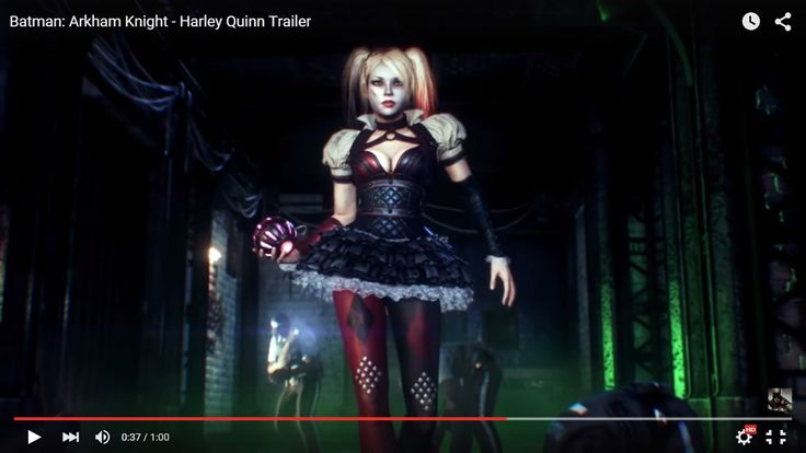 screenshot: Arkham Knight Harley Quinn trailer (3)