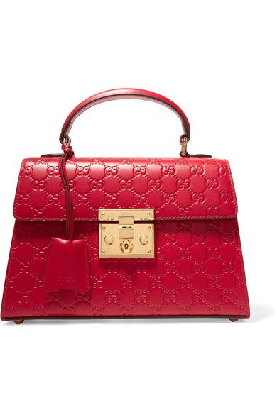 GUCCI Padlock small embossed leather tote. #gucci #bags #shoulder bags #hand bags #leather #tote #