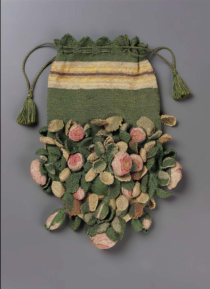Bag   French or Italian   late 18th century   silk   Museum of Fine Arts, Boston   Accession #: 43.1092