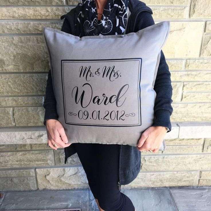 "Personalize My World Boutique on Instagram: ""Love this pillow design as I can do double duty! A great wedding or anniversary gift."""