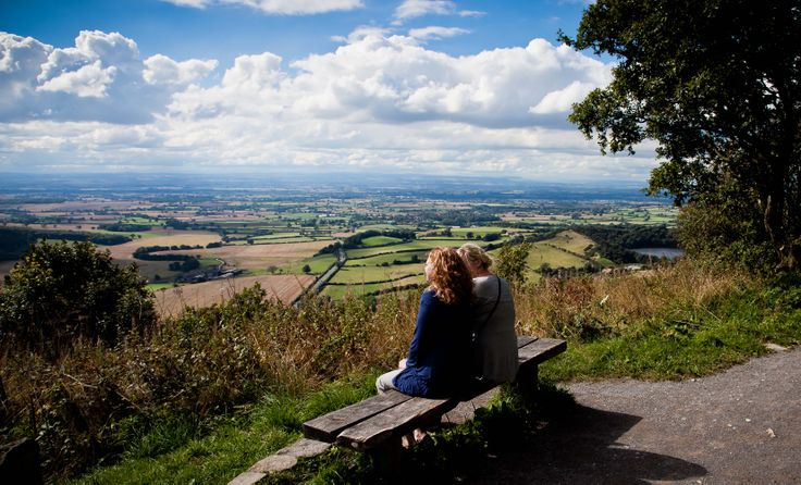 The view from Sutton Bank. Slow North York Moors & Yorkshire Wolds; www.bradtguides.com. Photo: @North York Moors National Park