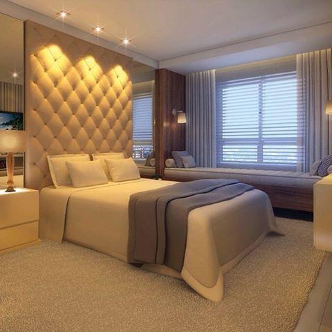 Quarto do casal!! #decoração #detalhes #designdeinteriores #design #iluminação #instadecor ...
