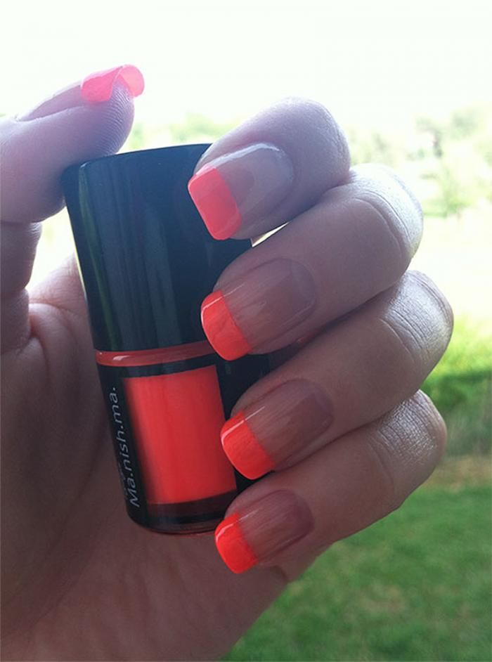 Neon french tips!! Obsessed