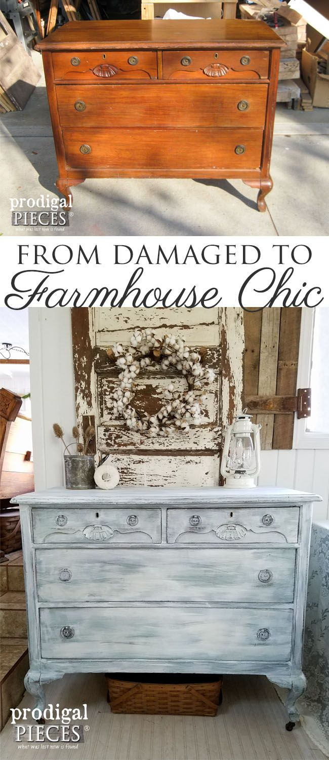 How to paint wood and get the best possible finish - Farmhouse Chic Dresser Best Paint Brushes Ever