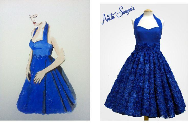 Diseño Anita Singers, moda 50's