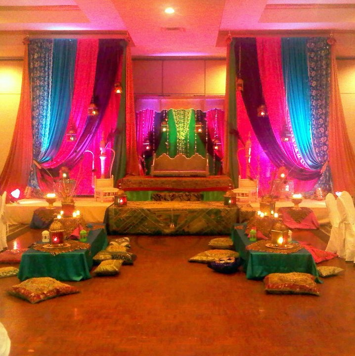 17 best images about wedding mehndi decor stages on for Decorations for weddings at home