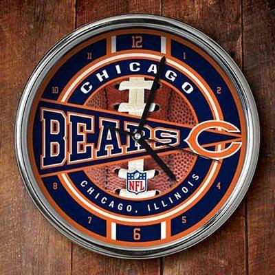 Chicago Bears 12'' Chrome Wall Clock