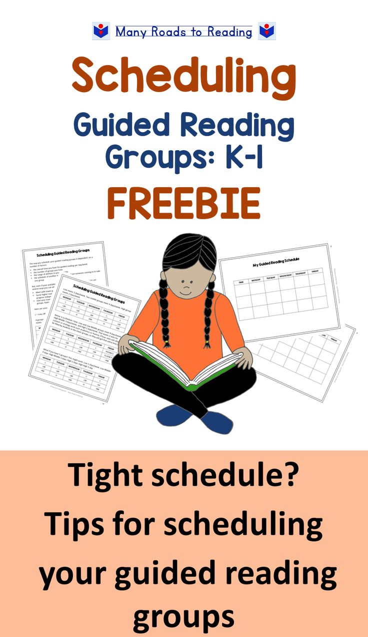 Scheduling Guided Reading Groups: K-1 FREEBIE.  Is your schedule tight? Here are some quick tips for arranging your schedule to fit in all your guided reading groups. This freebie is taken from a longer assessment kit, Diagnostic Literacy Assessment for Beginning Guided Reading: K-1.
