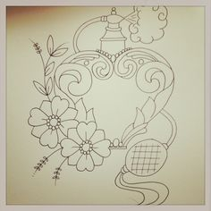 Image result for heart perfume bottle tattoo