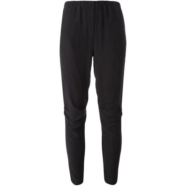 Kristensen Du Nord cropped tapered trousers ($419) ❤ liked on Polyvore featuring pants, capris, black, tapered trousers, cropped capri pants, kristensen du nord, cropped pants and tapered pants