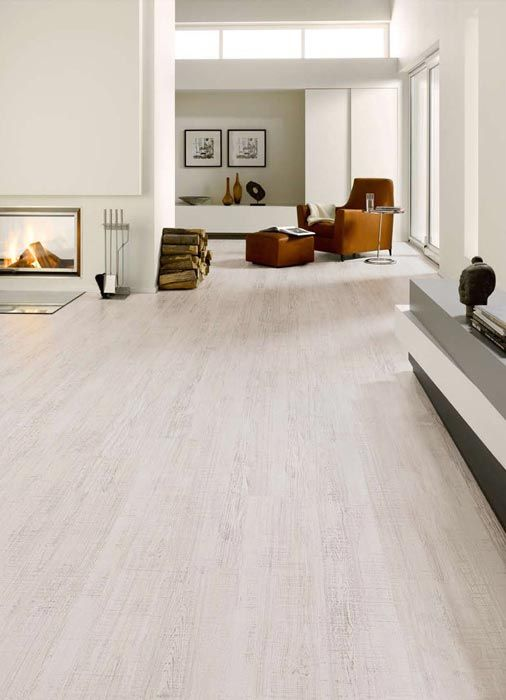 White Kitchen Laminate Flooring