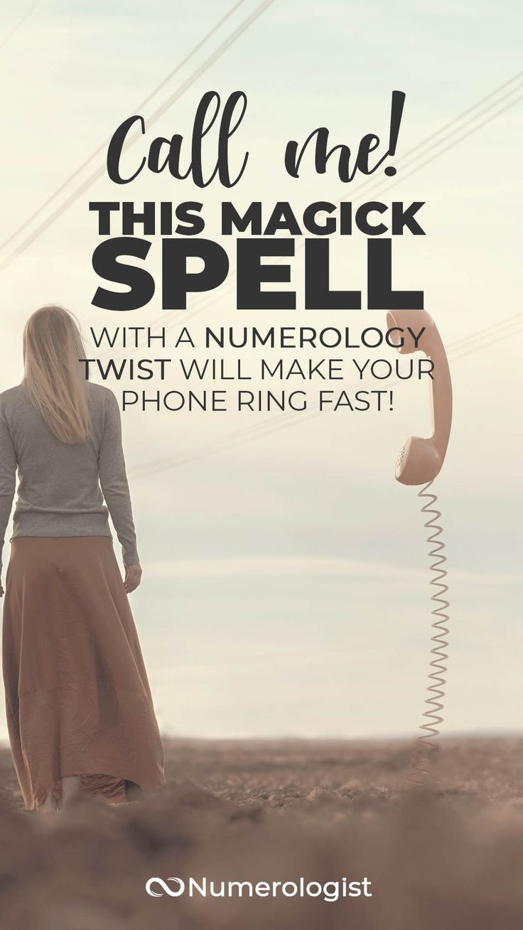 Call me spell a simple spell to make your phone ring fast