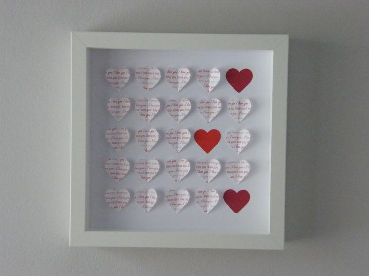 Image of Hearts - Small - Red 'I Love You'