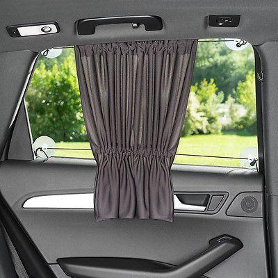 Sunscreen Car Side Window – Curtain Privacy Screen Kids & Baby XXL 68×50 cm