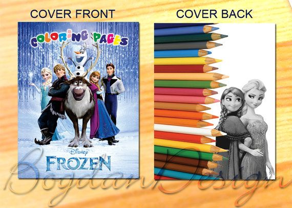 Coloring Pages Disney Frozen Coloring Pages by BogdanDesign, $4.50