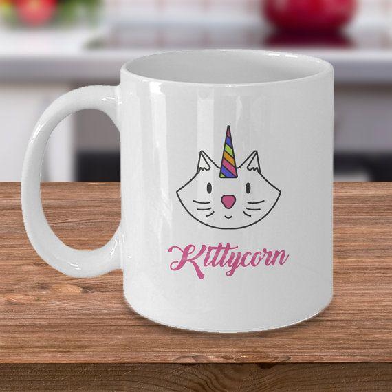 Cat Unicorn Mug: Pet Lovers  Kittycorn by dungishop on Etsy