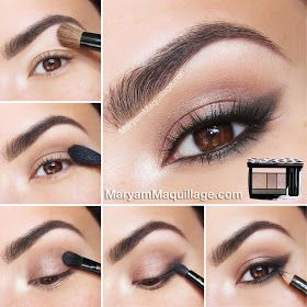 Taupe & Coral summer eye makeup look from Maryam Maquillage