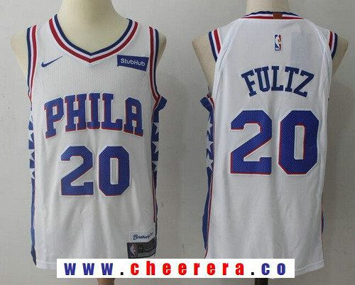 b2d1c98d60a Men s Philadelphia 76ers  20 Markelle Fultz White 2017-2018 Nike Swingman  Stubhub Stitched NBA Jersey