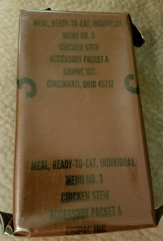 #Vintage #MRE Menu 3 #Chicken #Stew US #Military Ration #Meal Ready To #Eat