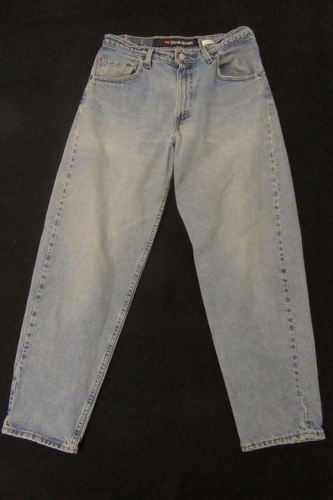 VTG Levis 520 #SpecialReserveDenim #Jeans Light Wash Loose Fit Tapered Leg #Levis #DenimJeans