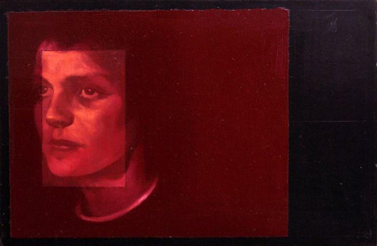 Der Traum, olio su ardesia, 20 x 30 cm